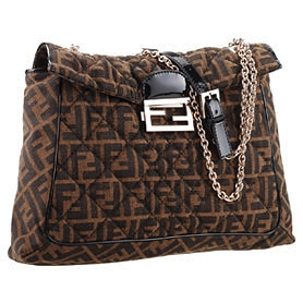Fendi Large Quilted Maxi Baguette Logo