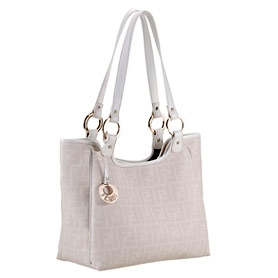 Fendi Medium White Shopper